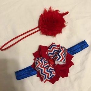 Pair of baby/toddler headbands